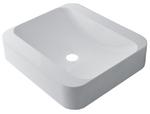 Умывальник Geneva 450 из литого камня торговой марки Fancy Marble. Размер 450х400 мм. Цвет белый.
