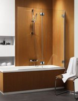 Складная шторка на ванну Radaway Carena PND R (130x150) правая, коричневая/хром (202201-108R)