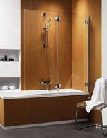 Складная шторка на ванну Radaway Carena PND R (130x150) правая, прозрачная/хром (202201-101R)