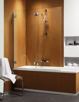 Складная шторка на ванну Radaway Carena PND L (130x150) левая, коричневая/хром (202201-108L)