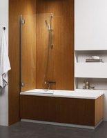 Складная шторка на ванну Radaway Carena PNJ L (70x150) левая, коричневая/хром (202101-108L)