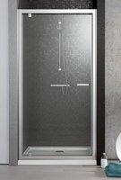 Дверь в нишу Radaway Twist DW 100 (985-1010х1900) коричневая/хром (382003-08)