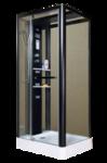 Душевой бокс MIRACLE NA112-3A (80x100x215) профиль черный